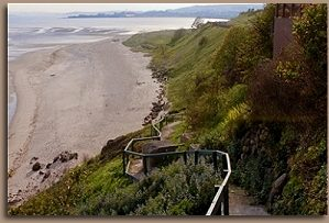 Private footpath to Pettycur Sands Beach